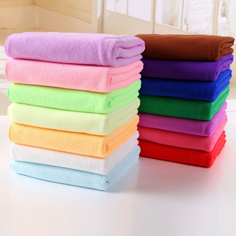 70x140cm Absorbent Microfiber Drying Bath Towel Washcloth Shower (Light Purple)