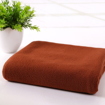 70 x140cm Absorbent Microfiber Drying Bath Towel Washcloth Shower Coffee