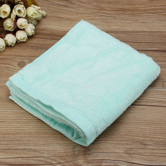34x71cm Cotton Towel Face Cloth Hand Bath Towel Green