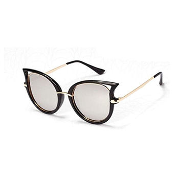 GAMT New Fashion Round Cateye Mirrored Sunglasses For Women Classic Style (Silver, 58) - Intl