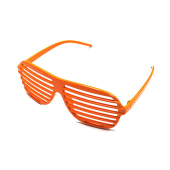 niceEshop New Fashion Shutter Shades Slot Sunglasses For Party Favors,Orange
