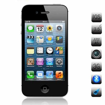 "Apple iPhone 4S 16gb BLACK 3.5""IPS 512 MB RAM 8 MP iPhone4s Mobile Phone Multi-Language iphone4s"""