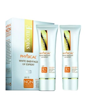 SMOOTH E Physical White Babyface UV Expert (white) 15 กรัม (2หลอด)