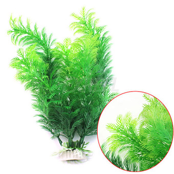 Moonar 30cm Fish Tank Aquarium Decoration Green Artificial Plastic
