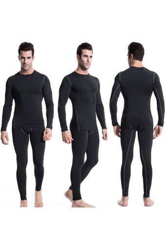 Men's Sports Apparel Long Sleeve T-shirt Pants Suits Fitness Basketball Football Tops Compression Wear Tights Breathable+Quick-Drying Yoga T-shirt Trousers Fitness Clothes Training Wear (Intl)