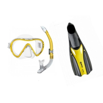 Mares Manta Snorkelling Set Yellow - With Bag
