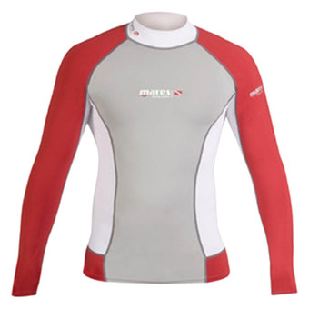 Mares Rash Guard Long Sleeve DC - Red