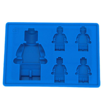 LALANG Silicone Robot Mould Ice Cube Tray (Blue)