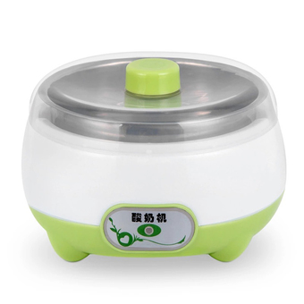 BEST HS Yogurt machine เครื่องทำโยเกิร์ต Portable Automatic Fruit Yogurt Maker Plastic liner HS-002 Green