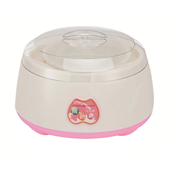 HS เครื่องทำโยเกิร์ต Portable Automatic Fruit Yogurt Maker Plastic liner (Pink)