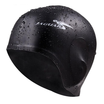 Premium Silicone Swim Caps Ears Protection (Black)