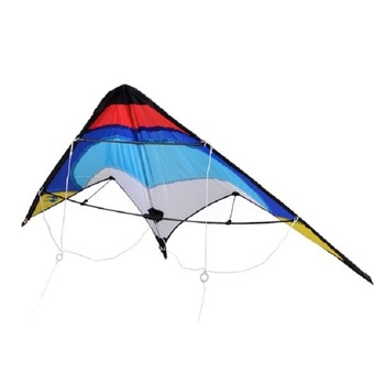 Professional Sporty Stunt Kite Dual Line Control Windy Outdoor Leisure Activity (Blue)