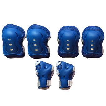 Kid's Knee Pads Elbow Wrist Protective Gear Pads for 4-12 Years Boy and Girl Children Kids Cycling Roller Skating Birthday Christmas Gift Set of 6 Blue