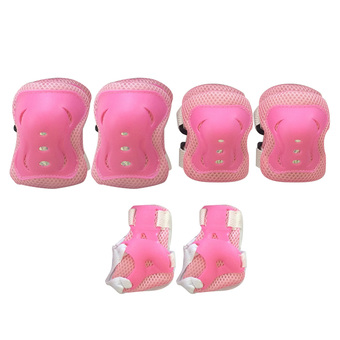 Kid's Knee Pads Elbow Wrist Protective Gear Pads for 4-12 Years Boy and Girl Children Kids Cycling Roller Skating Birthday Christmas Gift Set of 6 Pink