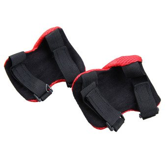 Knee Pads Elbow Wrist Protective Gear Pads for 4-12 Years Boy and Girl Children Kids Cycling Roller Skating Birthday Christmas Gift Set of 6 Red