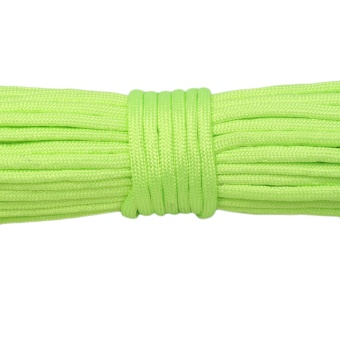 Allwin Paracord Parachute Cord Lanyard Mil Spec Type III 7 Strand Core 50 100 Feet Fluorescent green