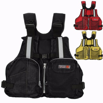 NEW Adult Marine Buoyancy Aid Sailing Kayak Fishing Boating Ski Life Jacket Vest Black - Intl