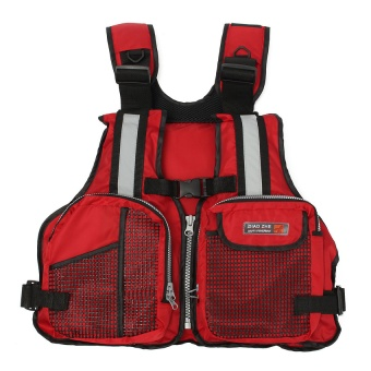 NEW Adult Marine Buoyancy Aid Sailing Kayak Fishing Boating Ski Life Jacket Vest Red - Intl