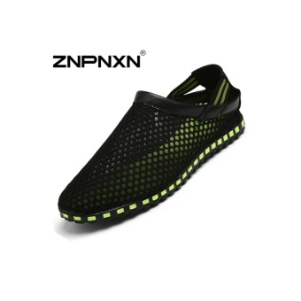 ZNPNXN Lovers Fashion Running Beach Sports Tulle Shoes (Black)