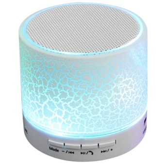 MINI Wireless Bluetooth Speaker USB Speakers Portable Music Sound Box Subwoofer Hand-free Call LED Speaker (White)
