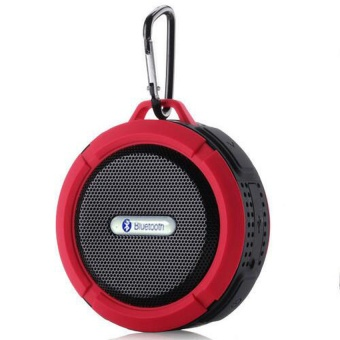 Waterproof Bluetooth Super Bass Speaker Mini Subwoofer (Red)