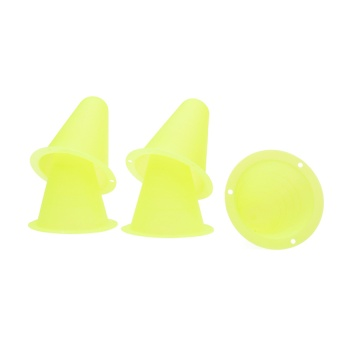 5Pcs PVC Bright-colored Slalom Cones for Slalom Skating Cone Skating - Limegreen