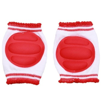 LALANG Knee Pads Elbow Pads Breathable Anti-knock Kids Knee Protector (Red)