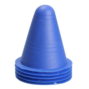 5Pcs Marker Cones Slalom Skating Rugby Fitness Drill Blue