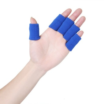 Fancyqube Knitted Finger Protector Set of 10 (Blue)
