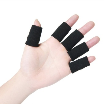 Fancyqube Knitted Finger Protector Set of 10 (Black)
