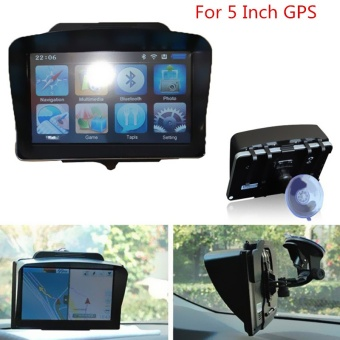 Universal Sunshade 5 Inch Car Vehicle GPS Navigation (Black)