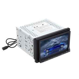 "Universal 3G WiFi 7"" 2 Din Car DVD/USB/SD Player Bluetooth GPS Radio HD Car Entertainment System for All Cars"""