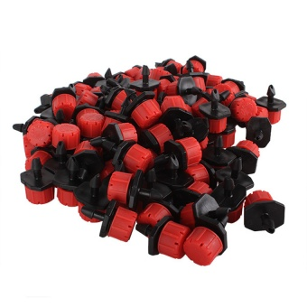 Adjustable Micro Irrigation Drippers Set of 100 Red