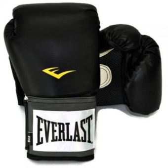 Everlast นวม EVERLAST PRO TRAINING GLOVES 8OZ (BLACK/สีดำ)