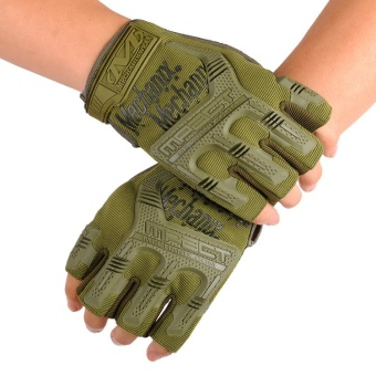 Seal semi finger gloves outdoor sports riding gloves Army Tactical anti slip gloves