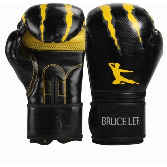Bruce Lee classic boxing gloves(black with yellow) - Intl