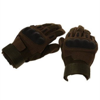 HengSong Hiking Cycling Hand Gloves Army Green