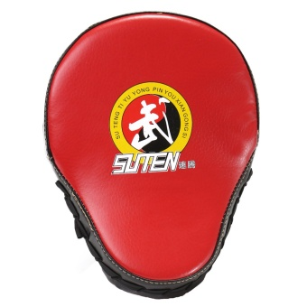 23x19x5cm Boxing Glove Mitt Hand Target Focus Punch Pad For Karate MMA Training Black Edge Red Surface