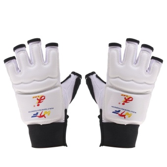 RIS EVA Pad Taekwondo Hand Protector Gloves Karate Sparring Boxing Gear White XS