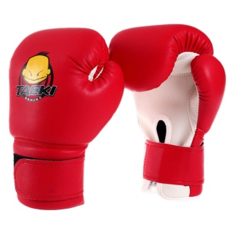 PAlight Children Sanda Knuckles Kickboxing Mittens (Red) - Intl