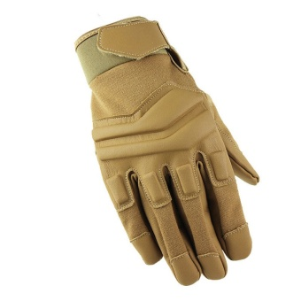 Motorcycle Gloves Tactical Sports Military Army Leather Paintball Gloves Full Finger Men Sand