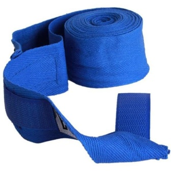 Ai Home 1Pair Boxing Hand Wraps Boxing Bandages Wrist Fist Punching (Blue)