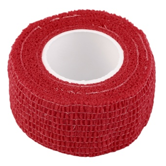 GOOD Self-Adhering Bandage Wraps Elastic Adhesive First Aid Tape Stretch 2.5cm Red (Intl)