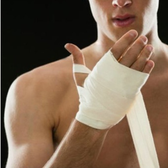 PAlight Boxing Hand Wrist Protecting Wraps Bandages (white) - Intl