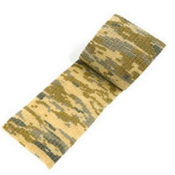 New 5CM x 4.5M Kombat Army Camo Wrap Rifle Outdoor Camouflage Stealth Tape (Desert)