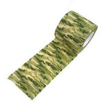 Fancytoy New 5CM x 4.5M Kombat Army Camo Wrap Rifle Outdoor Camouflage Stealth Tape (Grass)