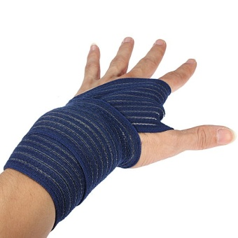 Soft Wrist Knee Ankle Elbow Support Wrap Sports Bandage(blue 40cm)