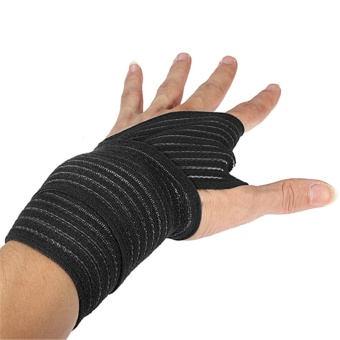Soft Wrist Knee Ankle Elbow Support Wrap Sports Bandage(black 70cm)