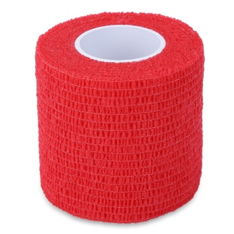 Tattoo Self Adhesive Elastic 5CM Wide Sports Tennis Elbow Bandage Nail Tapes Finger Protection Wrap (Red)