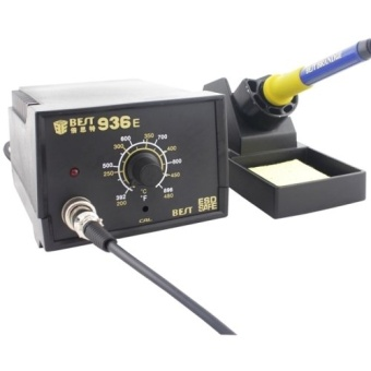 BEST BST-936E AC 220V Thermostatic Soldering Station Anti-static Electric Iron, EU Plug(Black) - Intl